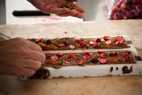 ručně vyráběné čokolády